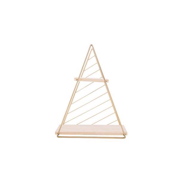Cosy & Trendy Decorek Triangle Gold 27,5 x 9,5 x h 33 cm