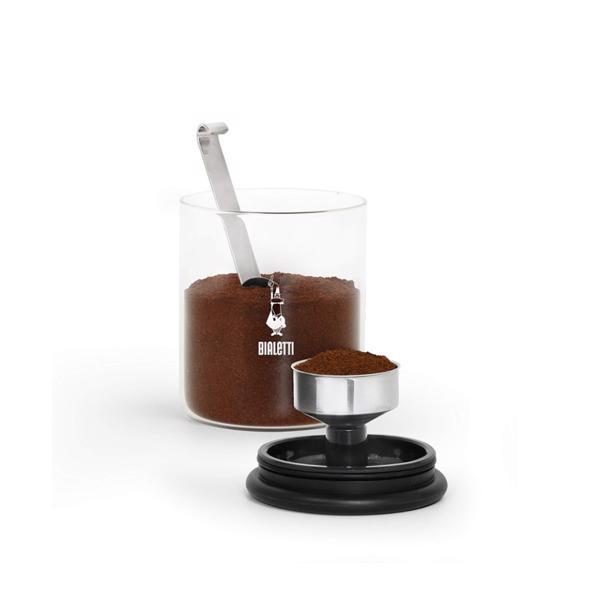 Bialetti Smart Aroma Glazen Koffiepot + Inox Doseerlepel