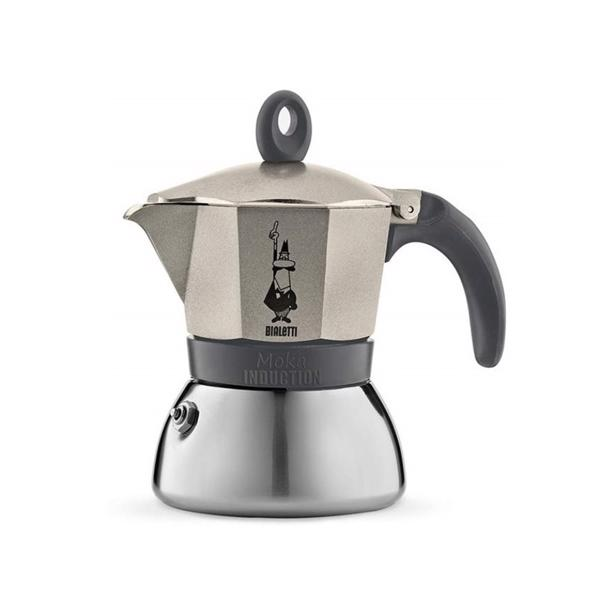 Bialetti Moka Induction Espresso Maker Goud Grijs 3 Tassen