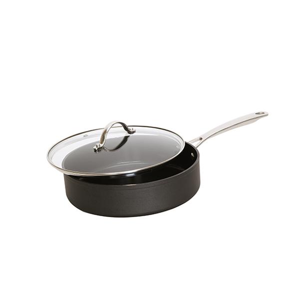 healthy pan alu sauteerpan zwart