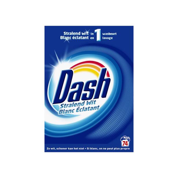 Dash - Stralend Wit Waspoeder 74 wasbeurten