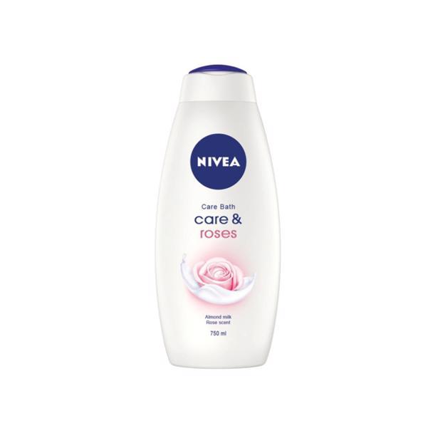 Nivea - Caring Bath Creme Roses 750ml
