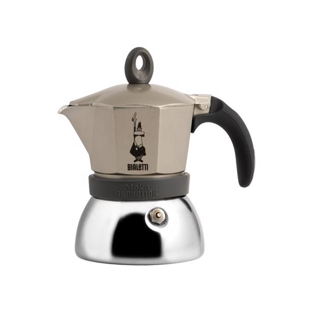 Bialetti Moka Induction Espresso Maker Goud Grijs 6 Tassen
