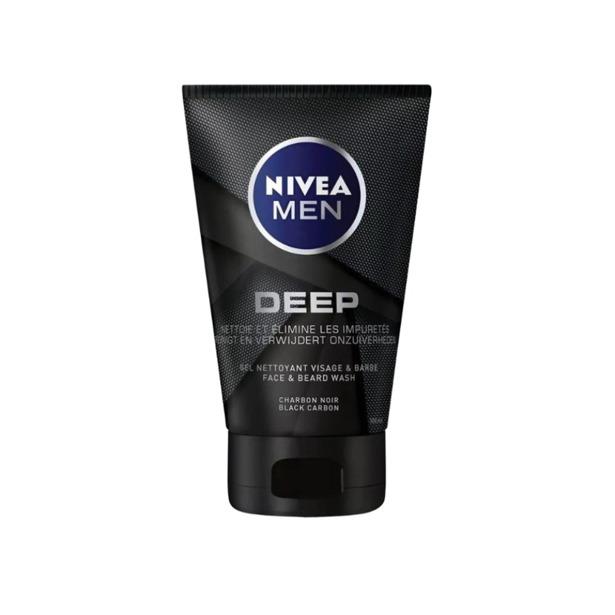 Nivea Men Deep Face & Beard Wash Black Carbo