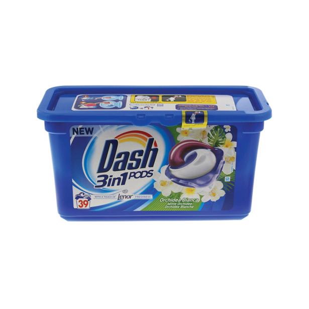 Dash - 3in1 Pods Lenor & Witte Orchidee