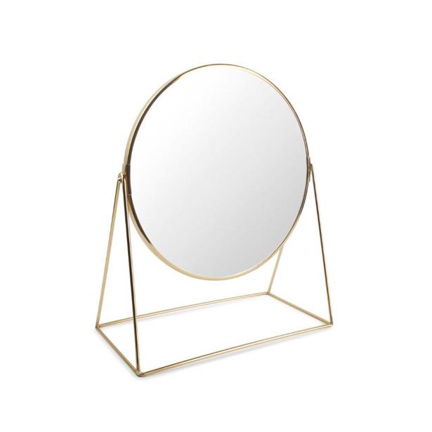 Salt & Pepper Tafelspiegel 30x16xH38cm 2-zijdig goud Beauté