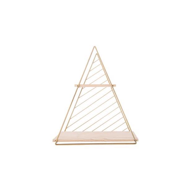 Cosy & Trendy Decorek Triangle Gold 37,5 x 11 x h 42 cm