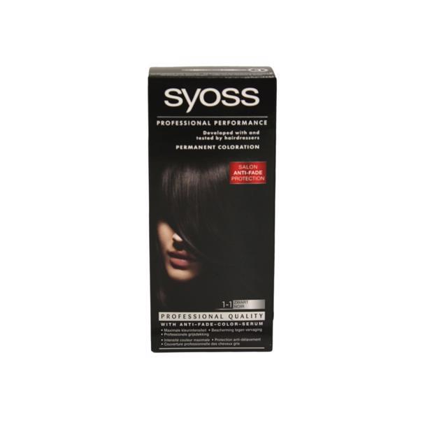 Syoss Zwart Professional Performance 1-1 in voordeelverpakking