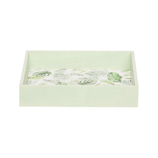 Cosy & Trendy Dienblad Jungle Groen 23 x 23 x h 4,5 cm