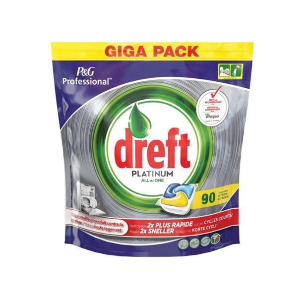 Dreft Platinum All In One Citroen 90 Vaatwascapsules