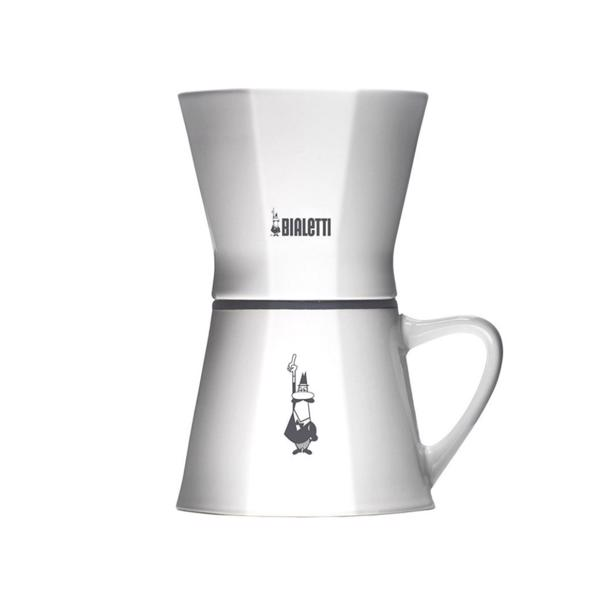 Bialetti Pour Over Filter met Tas Wit Porselein