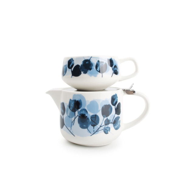 Tea for one set 60cl blauw Lilia