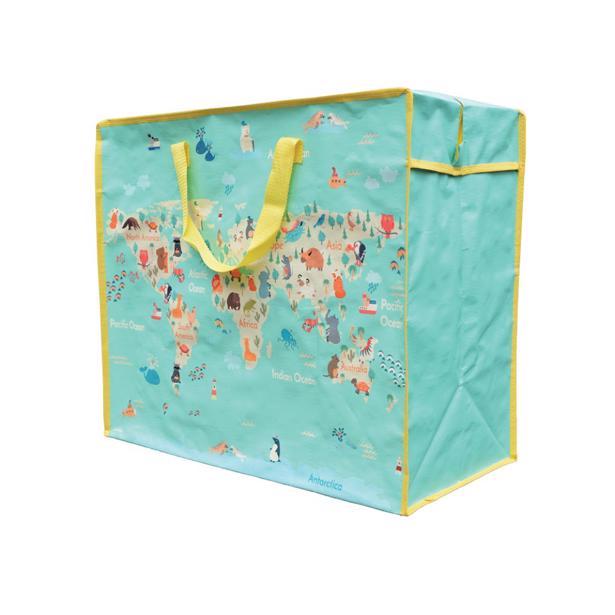 Luzinda Jumbo Storage Bag World Map in voordeelverpakking!