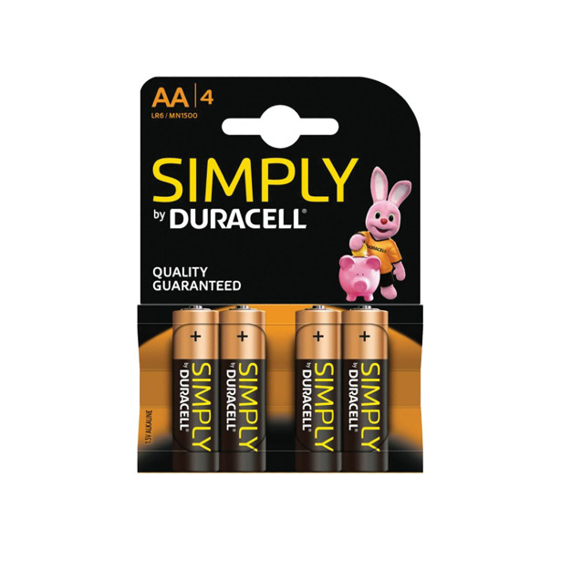 Duracell Simply AA 4-pack