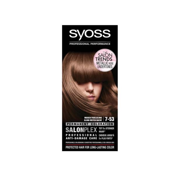 Syoss Midden Parelblond Professional Performance 7-53