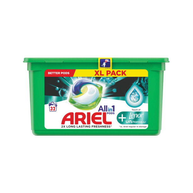 Ariel 3 in 1 Pods Unstoppables Touch Of Lenor
