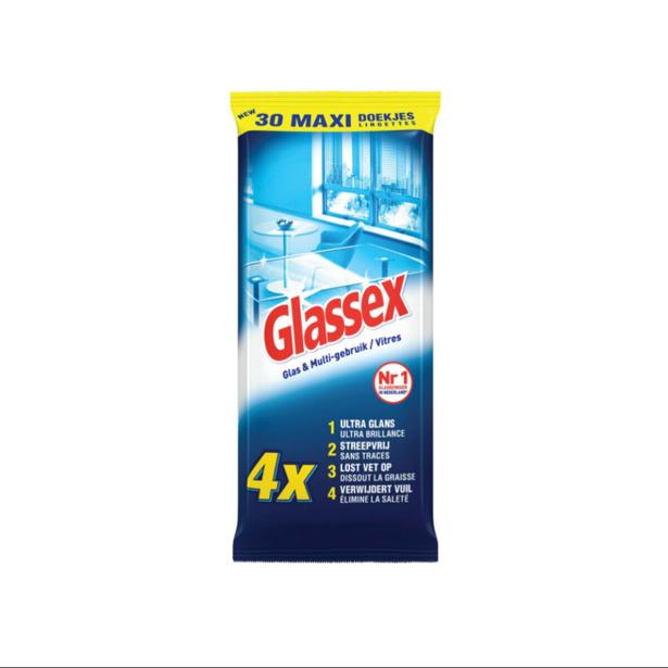 Glassex Glas & Multi-gebruik Reinigingsdoekjes
