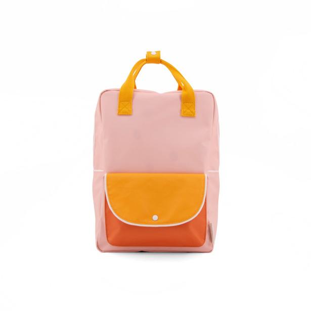 Sticky Lemon - Rugzak Large Wanderer Candy Pink+Sunny Yellow+Carrot Orange