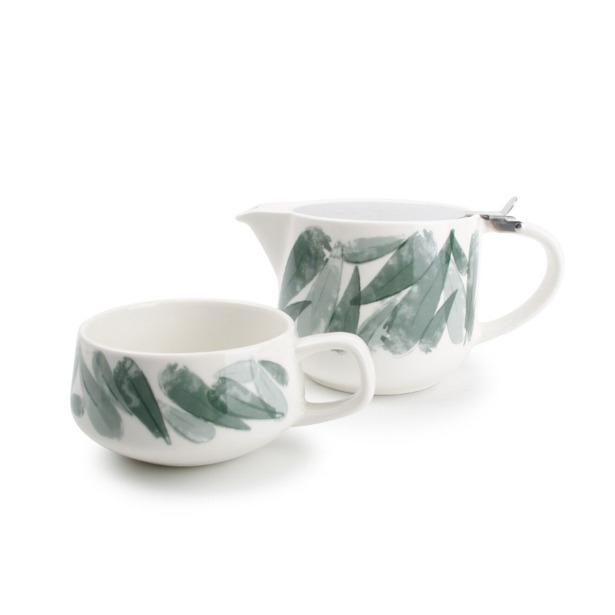 Tea for one set 60cl groen Lilia