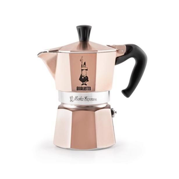 Bialetti Mokka Express Espresso Maker Roségold 6 Tassen