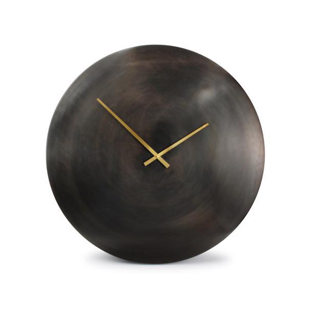 Salt & Pepper Wandklok 76cm Round Metal Black Zone