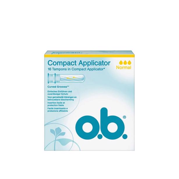 O.B. Compact Applicator Normal Tampons