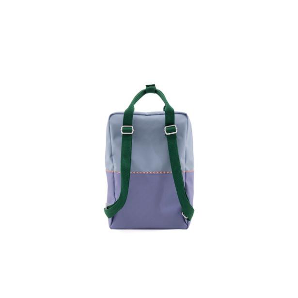 Sticky Lemon - Rugzak Large Colourblocking Moustafa Purple+Henckles Blue+Movie Green