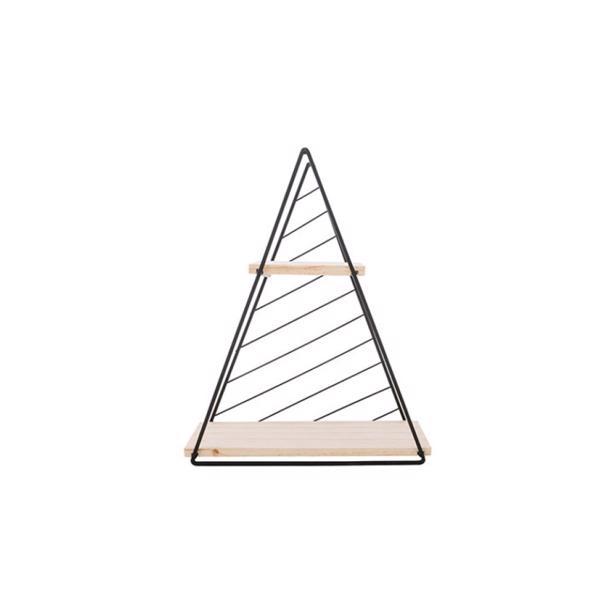 Cosy & Trendy Decorek Triangle Black 27,5 x 9,5 x h 33 cm