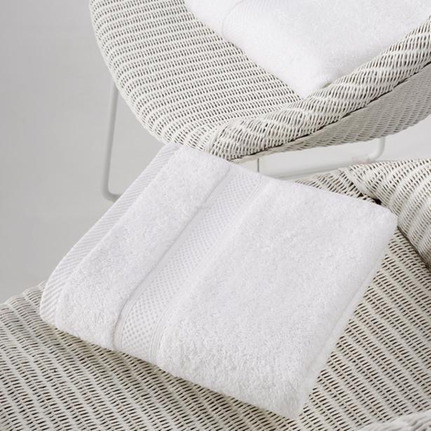 De Witte Lietaer - Handdoek Stephanie Wit 50x100cm (Set van 2 stuks)