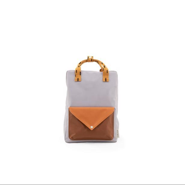 Sticky Lemon - Rugzak Large Sprinkles envelope Lavender+Apricot Orange+Cinnamon Brown