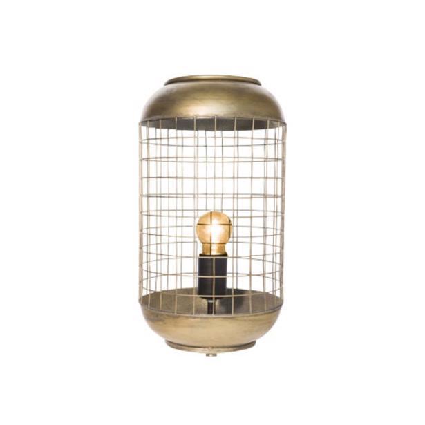 Cosy & Trendy Lamp Draadraster Metaal Goud/Koperkleur 21 x 21 x h 94 cm