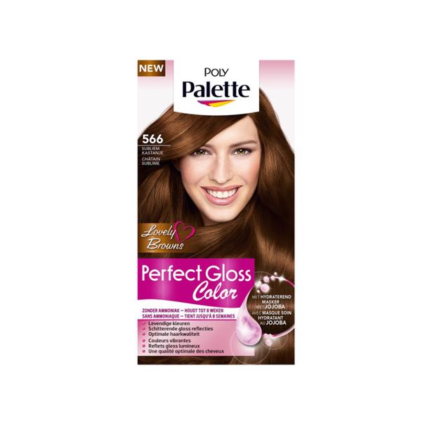 Schwarzkopf Poly Palette Perfect Gloss Color 566 - Subliem Kastanje