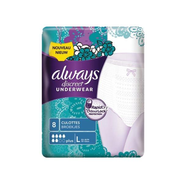 Always Discreet Pants Plus Large