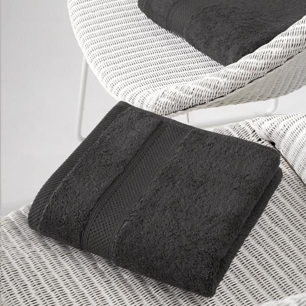 De Witte Lietaer - Handdoek Stephanie Ebony 50x100cm (Set van 2 stuks)