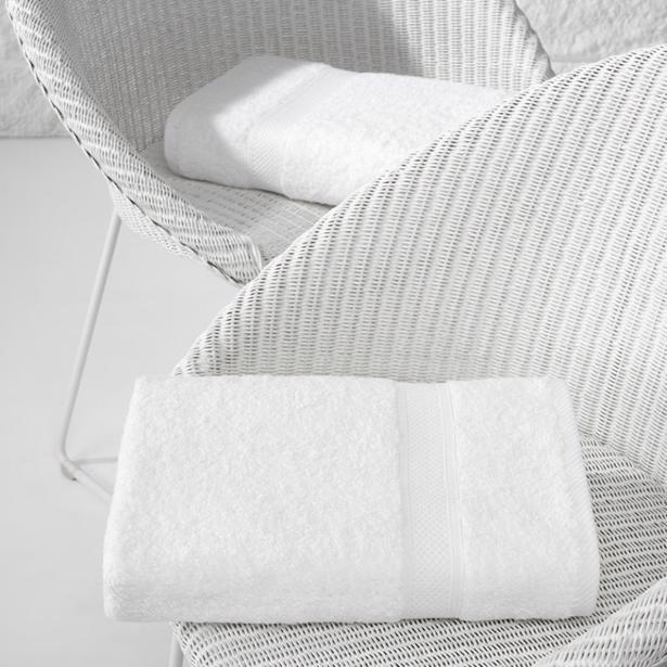 De Witte Lietaer - Douchelaken Stephanie Wit 70x140cm (Set van 2 stuks)