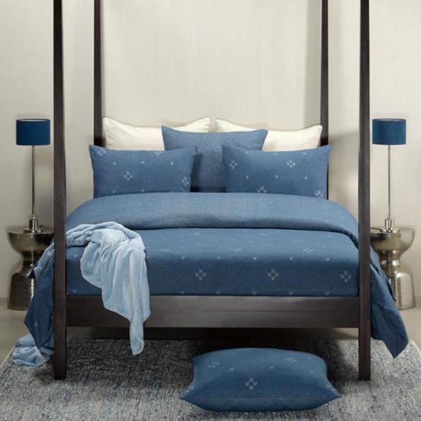 De Witte Lietaer - Flanel Bedlinnen Snow Nightshadow Blue 260x220/240cm & 2 kussenslopen