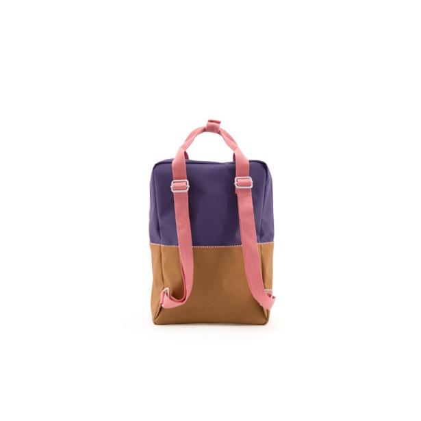 Sticky Lemon - Rugzak Large Colourblocking Panache Gold+Lobby Purple+Puff Pink
