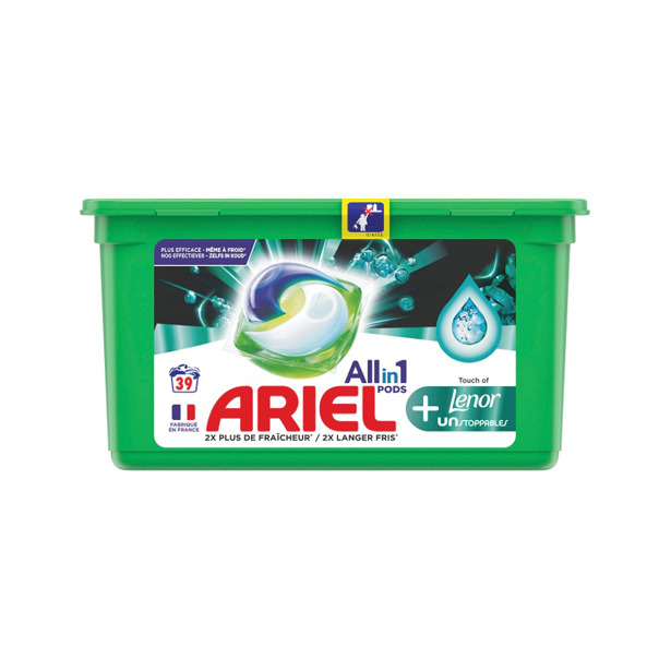 Ariel All In One Pods Touch Of Lenor Unstoppables