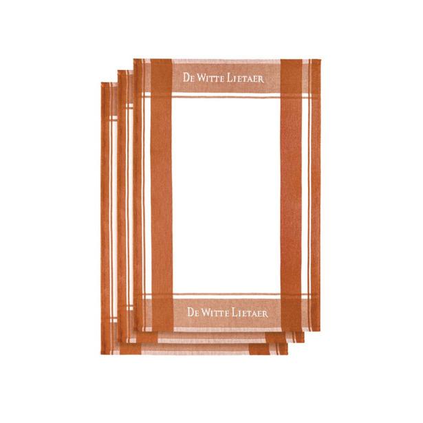 De Witte Lietaer Set van 3 keukenhanddoeken White-Hawaïen sunset 3/50x70 cm