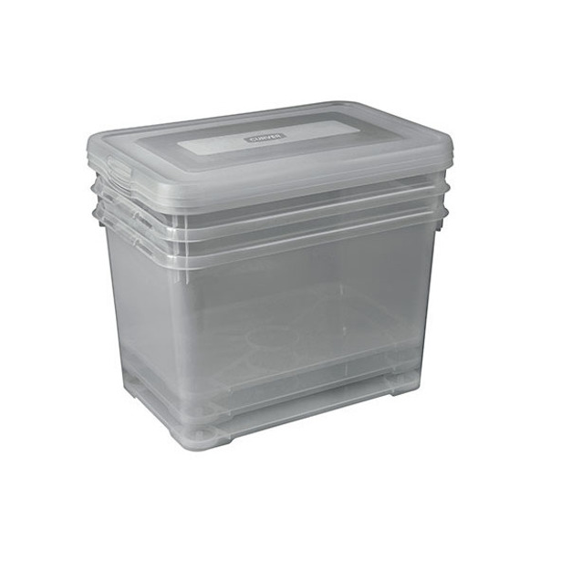 Curver - Handy Box 35L - set van 3 - 49x40x25cm - Smokey Grey