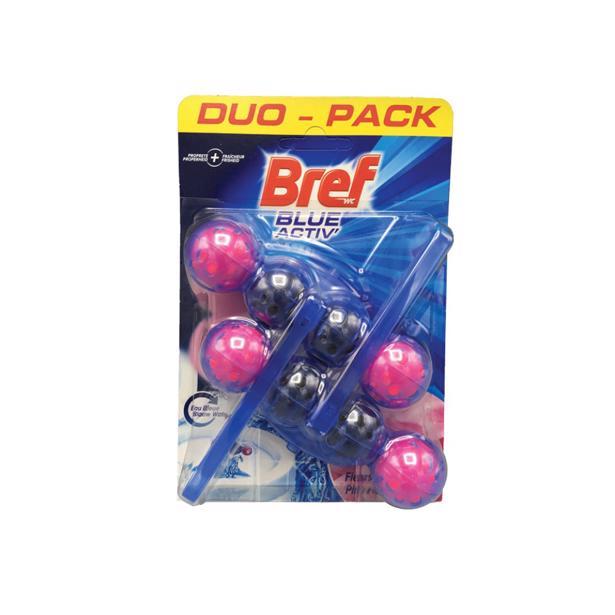 Bref - Blue Activ wc hygiëne pink flowers 50g