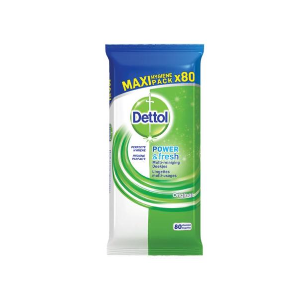 Dettol Dettol Power & Fresh Multi-reinigingsdoekjes Original