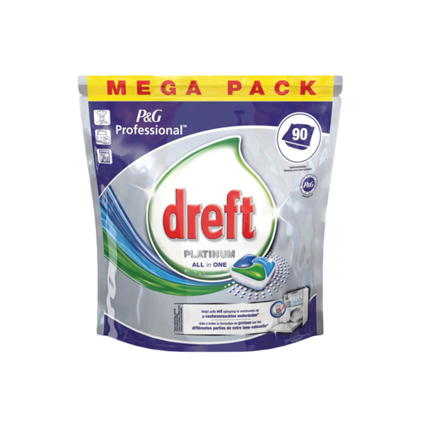 Dreft Platinum All In One 90 Vaatwascapsules