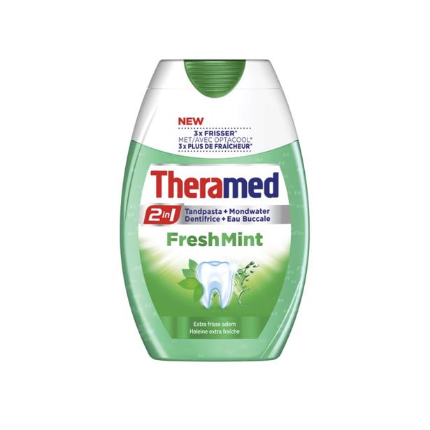 Theramed 2 in 1 Fresh Mint in voordeelverpakking!