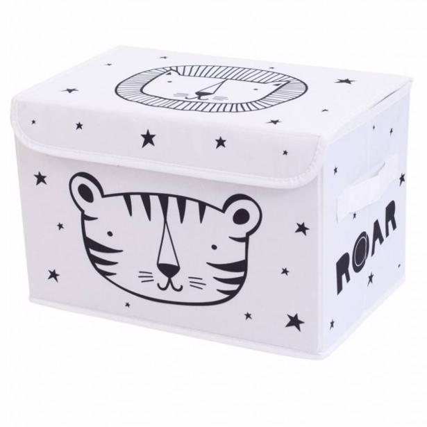 A Little Lovely Company - Pop Up Storage Box Roar 38x24,5x23,5cm