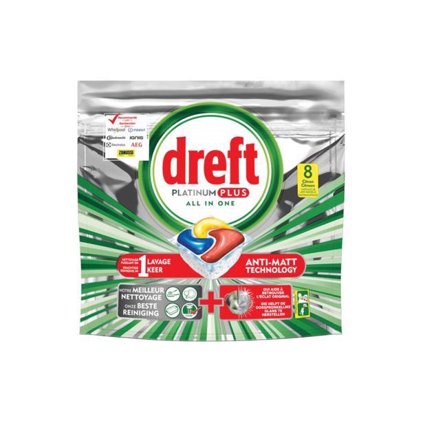 Dreft Platinum Plus All In One Citroen Vaatwastabletten