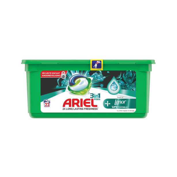 Ariel 3 in 1 Pods Touch of Lenor Unstoppables