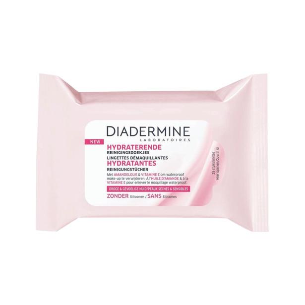 Diadermine Hydraterende Make Up Remover Reinigingsdoekjes Droge & Gevoelige Huid