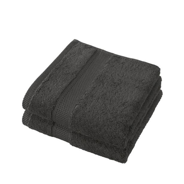 De Witte Lietaer Handdoek Stephanie Ebony 50x100cm