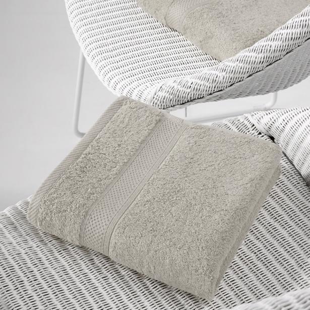 De Witte Lietaer - Handdoek Stephanie Dove 50x100cm (Set van 2 stuks)